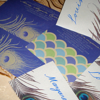 Inspiration, Stationery, blue, gold, Invitations, Board