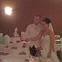 Reception, Flowers & Decor, Cakes, white, red, black, silver, cake, Bride, Groom, Cutting, Your big day weddings events