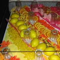 Reception, Flowers & Decor, Cakes, white, yellow, orange, pink, red, green, cake, Flowers, Your big day weddings events