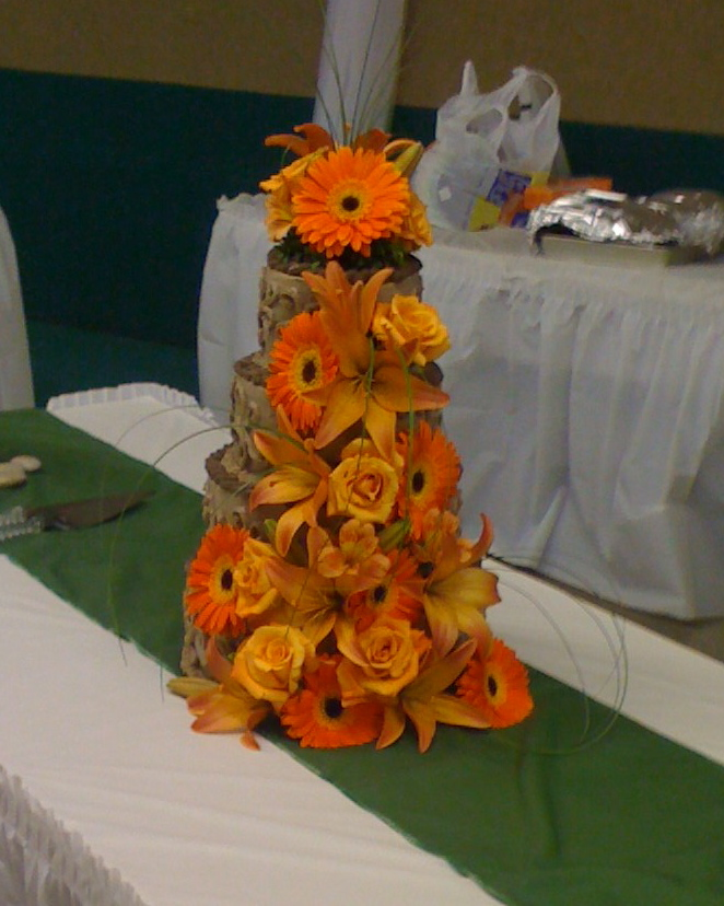 Ceremony, Reception, Flowers & Decor, Cakes, yellow, orange, red, green, brown, cake, Ceremony Flowers, Flowers, Your big day weddings events