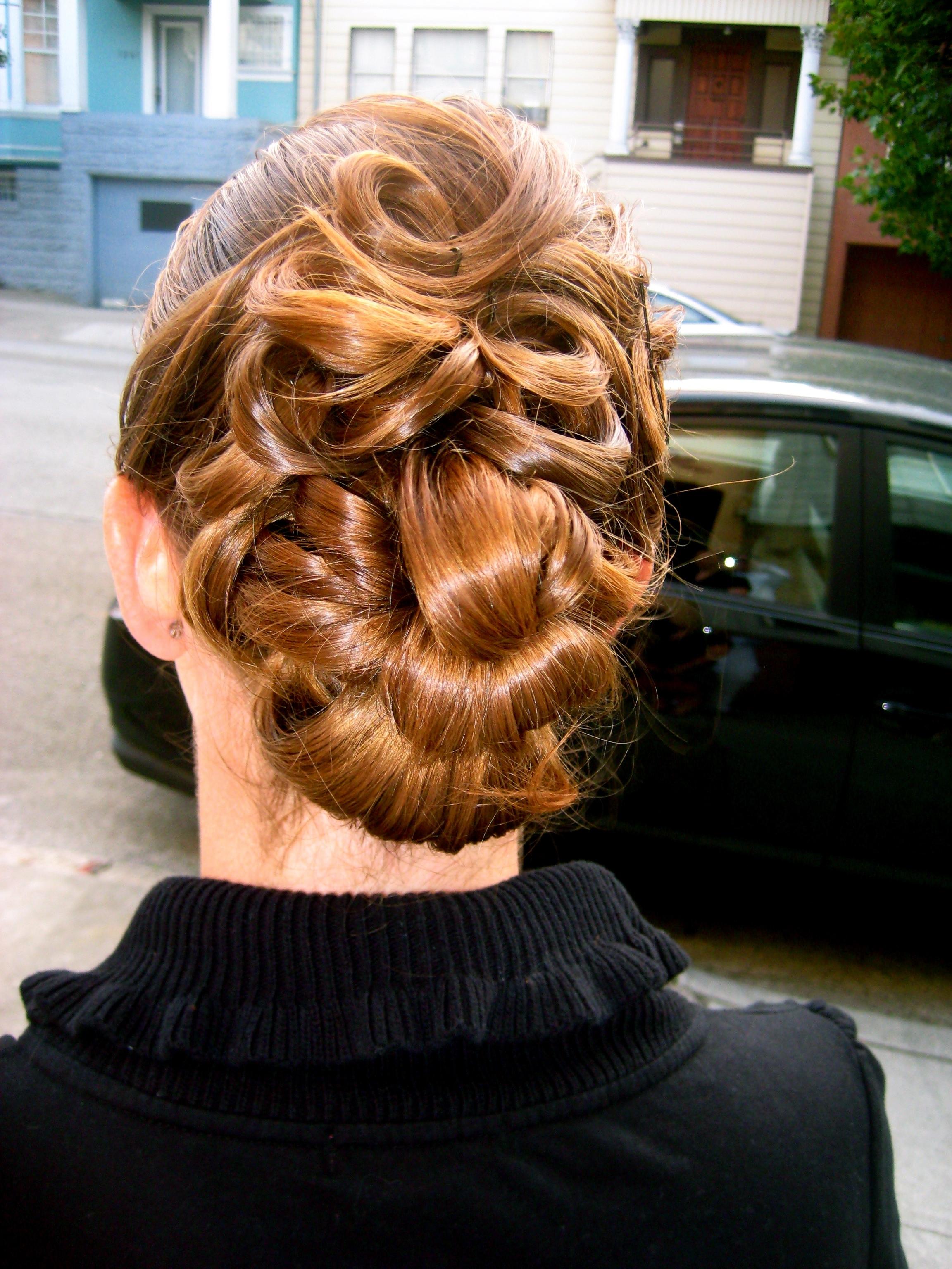 Updo, Elegant, Curls
