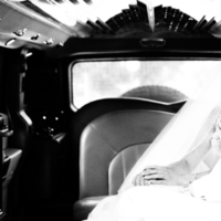 Wedding Dresses, Fashion, white, black, dress, Bride, Groom, Kiss, And, Limo, Allison reed photography