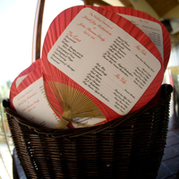 Ceremony, Flowers & Decor, Stationery, red, Invitations, Programs, Fans