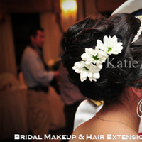 Beauty, Ceremony, Flowers & Decor, Jewelry, Bridesmaids, Bridesmaids Dresses, Wedding Dresses, Fashion, white, dress, Makeup, Updo, Wavy Hair, Ceremony Flowers, Bridesmaid Bouquets, Flowers, Hair, Wavy, Up, Do, Loose, B, Katie, Up-do, Styling, Makeup by katie b, Flower Wedding Dresses