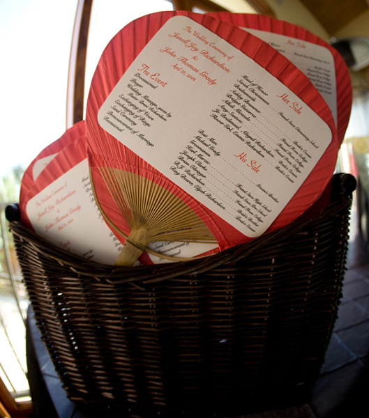 Ceremony, Flowers & Decor, Stationery, red, Invitations, Ceremony Programs, Programs, Fans