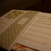 Flowers & Decor, Stationery, orange, green, Garden, Garden Wedding Invitations, Invitations, Band, Belly, Olive hue