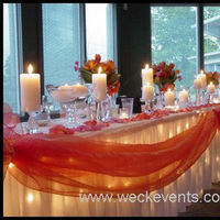 Reception, Flowers & Decor, orange, Weck events weddings