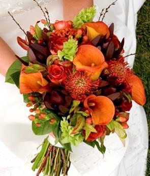 Flowers & Decor, Bridesmaids, Bridesmaids Dresses, Fashion, orange, Bride Bouquets, Bridesmaid Bouquets, Flowers, Bouquet, Bridemaids, Flower Wedding Dresses