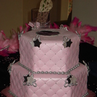 Cakes, pink, black, silver, cake, Fondant, Hexagon, Shape, Rapunzels cakes and cookies