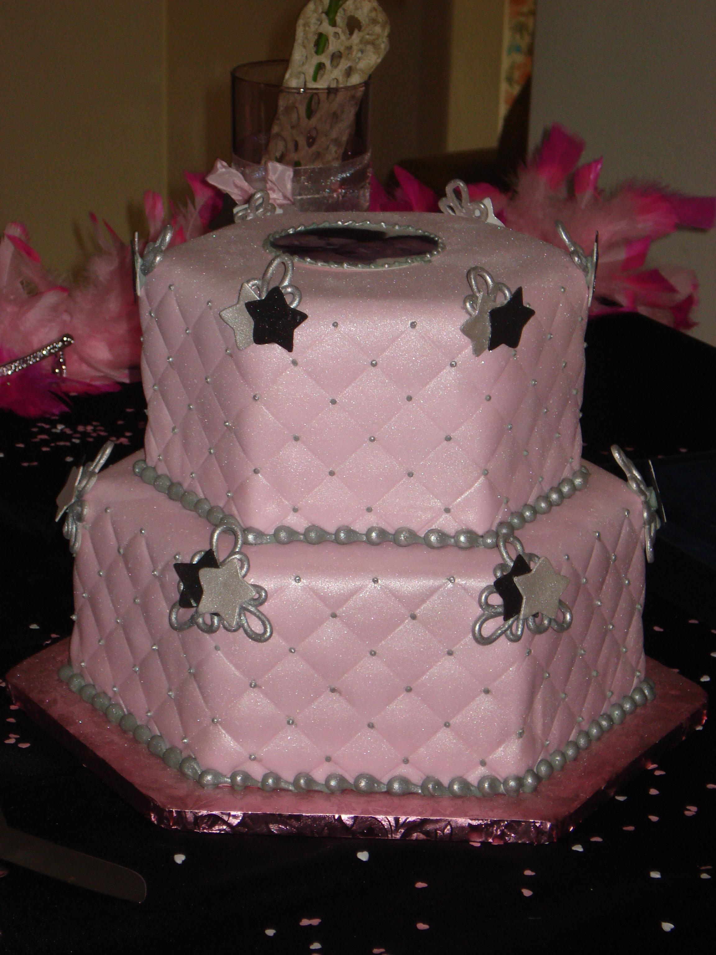 Hexagonal Bridal Shower with edible imagevendors Rapunzels