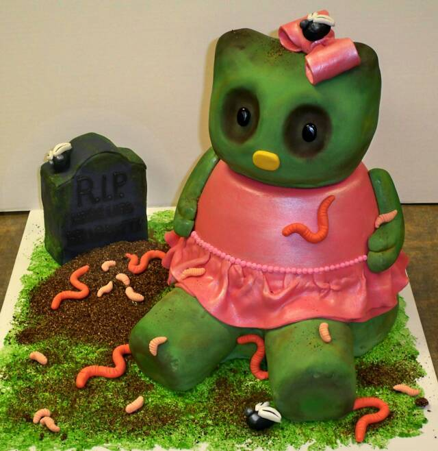 Cakes, pink, green, cake, Mirabella confections