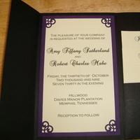 Stationery, purple, Invitations