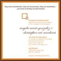 Stationery, orange, brown, Invitations, Invite
