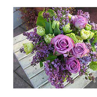 Reception, Flowers & Decor, purple, green, Centerpieces, Flowers, Centerpiece, Thistledown designs