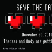Stationery, Invitations, The, Save, Date, Std, Geek, Geeky, Gamer
