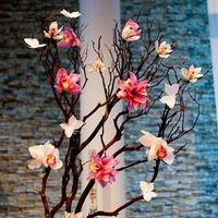Flowers & Decor, white, pink, Flowers, Orchids, Manzanita branches, Flower and paper, Large arrangement