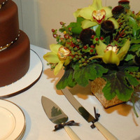 Reception, Flowers & Decor, Cakes, green, brown, cake, Centerpieces, Flowers, Centerpiece, Table, Thistledown designs