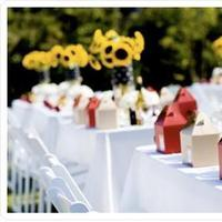Reception, Flowers & Decor, white, yellow, red, Sunflowers