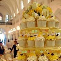 Reception, Flowers & Decor, Cakes, yellow, cake