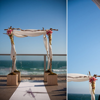 Ceremony, Inspiration, Flowers & Decor, pink, Beach, Ceremony Flowers, Flowers, Beach Wedding Flowers & Decor, Board, Malibu, Club, West, Aileen secord photography