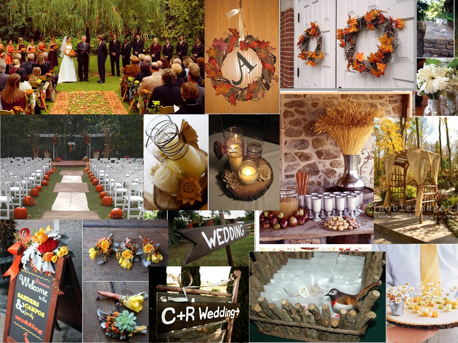 Inspiration, orange, red, green, brown, gold, Wedding, Board