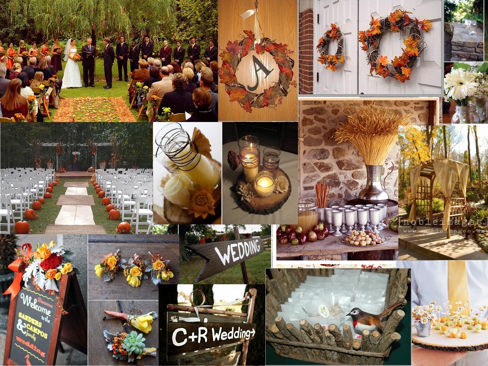Inspiration, orange, red, green, brown, gold, Wedding, Board