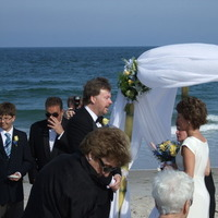 Ceremony, Flowers & Decor, Beach, Ceremony Flowers, Flowers, Beach Wedding Flowers & Decor, Music, Ocean, Sand, Nightlife enterainment disc jockey service