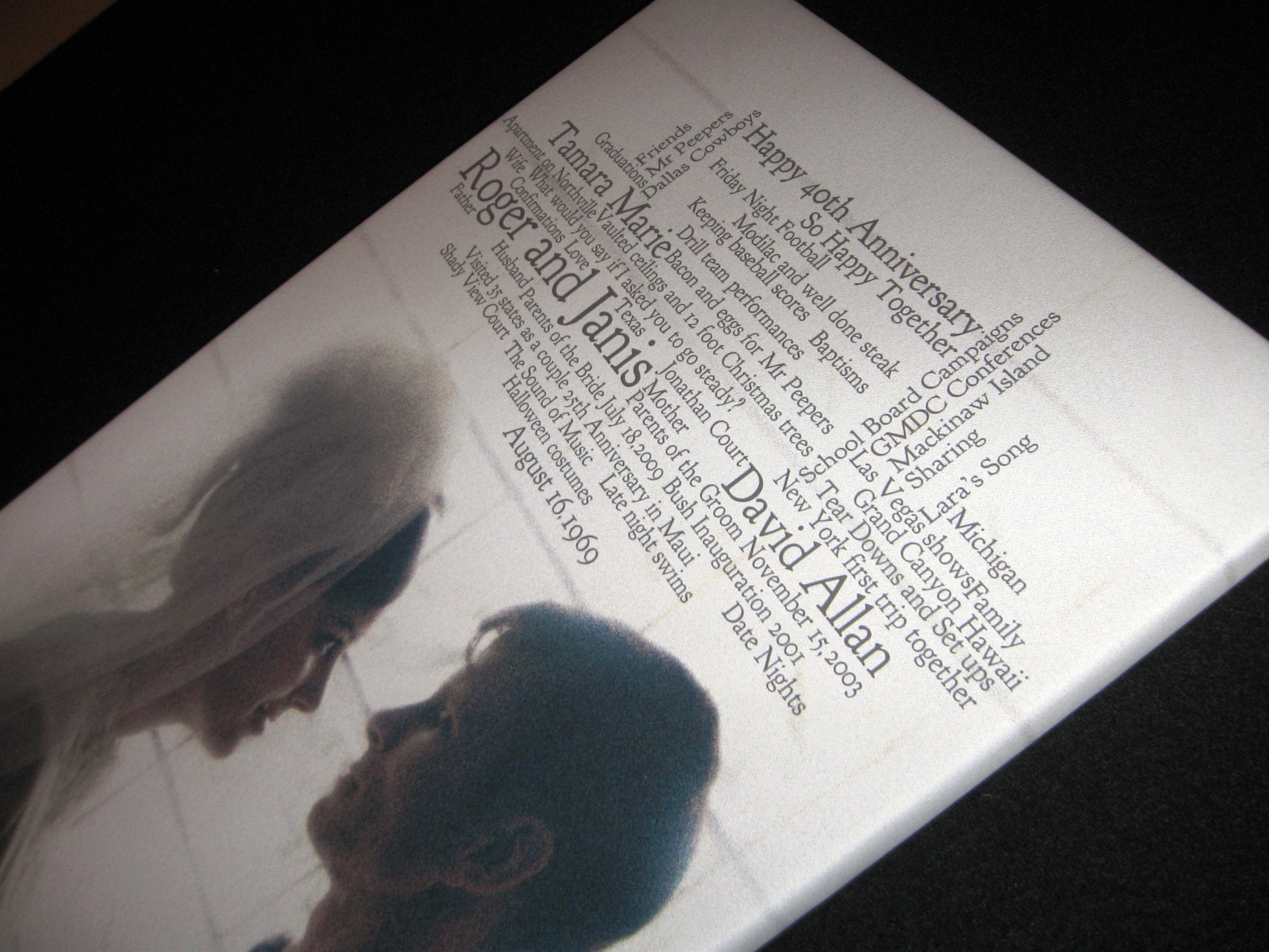 white, brown, black, Wedding, Vows, Photo, Anniversary, Canvas, Lyrics