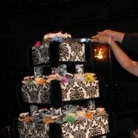 Cakes, white, black, cake, Cupcake, Stand