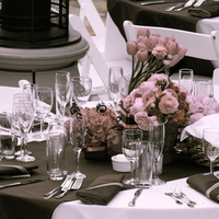 Reception, Flowers & Decor, white, pink, blue, brown, Table, Catering, Setting, Manor, Stone, Yours, Truly, Truly yours catering