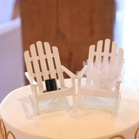 Cakes, white, brown, gold, cake, Beach, Cake Toppers, Topper, Wedding bell events