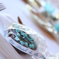 Reception, Flowers & Decor, Favors & Gifts, blue, brown, Favors, Brownie, Wedding bell events