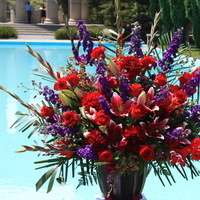 Ceremony, Flowers & Decor, red, purple, Ceremony Flowers, Flowers, Trinity blooms floral design