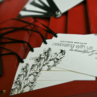 Stationery, white, black, Invitations, Welcome, Tags