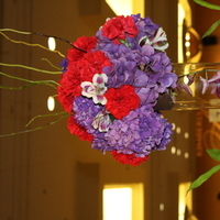 Reception, Flowers & Decor, red, purple, Centerpieces, Flowers, Centerpiece, Trinity blooms floral design