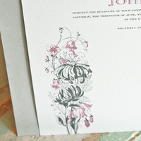 Stationery, white, silver, invitation, Invitations, Menu, Wedding, Dancing, Floral, Card, Dinner, Botanical, Reply