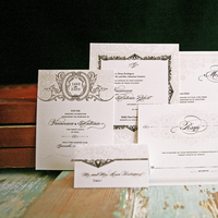 Stationery, Paper, white, brown, invitation, Invitations, Wedding, Floral, Hand, Ornate, Goods, Made, Lavish