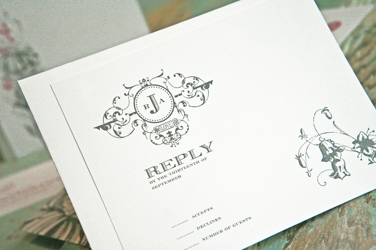 Stationery, white, silver, Invitations, Card, Reply