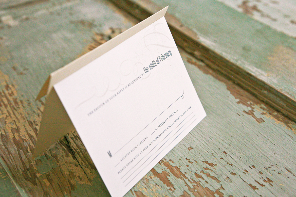 Stationery, white, green, gold, Invitations