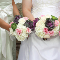 Flowers & Decor, white, pink, green, Bridesmaid Bouquets, Flowers, Bridesmaid, Bridal, And, Bouquets, Highland heights floral