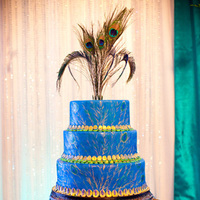 Reception, Flowers & Decor, Cakes, purple, blue, cake, Lacy branch events