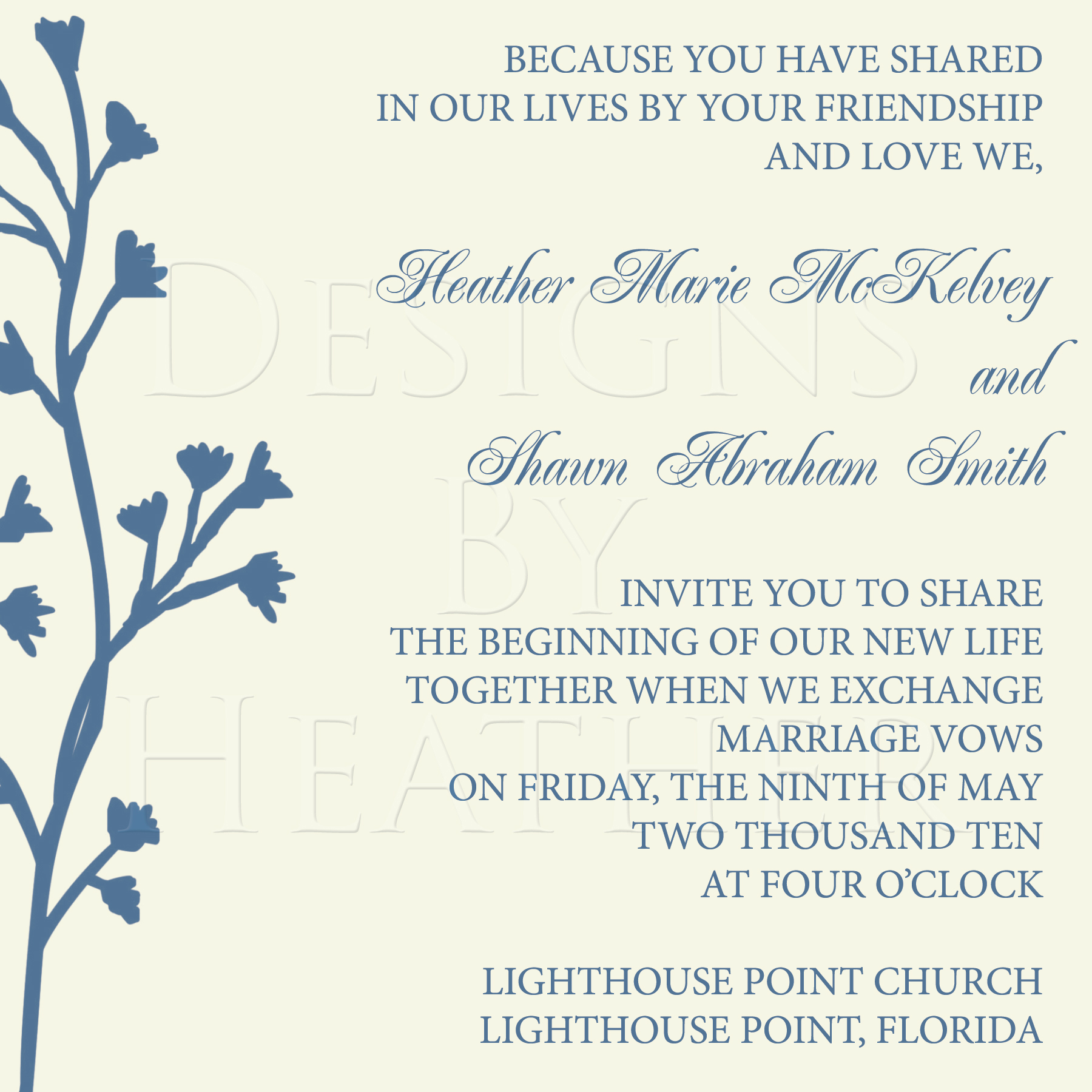Ceremony, Inspiration, Reception, Flowers & Decor, Stationery, blue, Invitations, Board, Divine designs llc, Blue and ivory, Floral invitations, Blue and cream invitations, Blue and ivory invitations