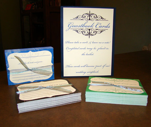 Guestbook sign, Guestbook cards