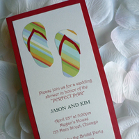 Stationery, Beach Wedding Invitations, Invitations, Sandals, Shower invitation, Big day boutique, Beach theme