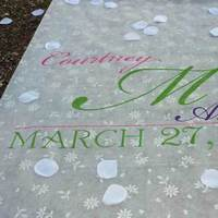 Ceremony, Flowers & Decor, Monogram, Aisle, Runner, Big day boutique