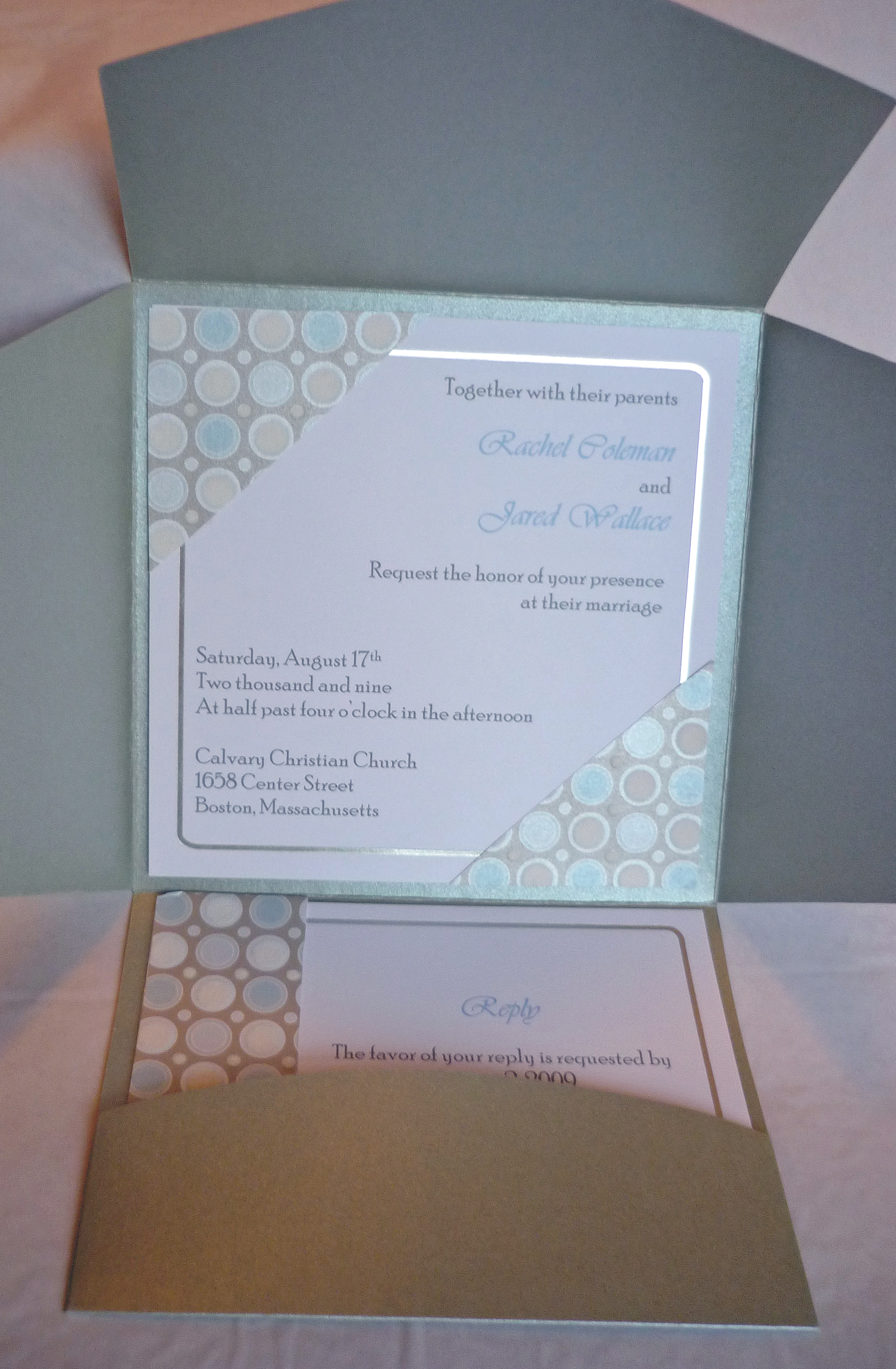 Stationery, Invitations, Pocketfold, Invites, Big day boutique, Polkadot