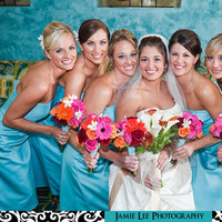 Beauty, Flowers & Decor, Bridesmaids, Bridesmaids Dresses, Fashion, pink, red, blue, Makeup, Bridesmaid Bouquets, Flowers, Hair, Jamie lee photography, Flower Wedding Dresses