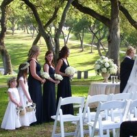 Ceremony, Flowers & Decor, Decor, Bridesmaids, Bridesmaids Dresses, Fashion, white, Ceremony Flowers, Bride Bouquets, Bridesmaid Bouquets, Flowers, Roses, Bouquet, Wedding, Bridesmaid, And, Hydrangea, Arrangement, Navy, Babys, Breath, Edens echo floral design event services, Flower Wedding Dresses