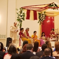 Ceremony, Flowers & Decor, white, red, gold, Ceremony Flowers, Flowers, Mandap, Edens echo floral design event services