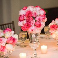 Reception, Flowers & Decor, white, pink, green, Centerpieces, Flowers, Centerpiece, Table, Head, Cesaro designs